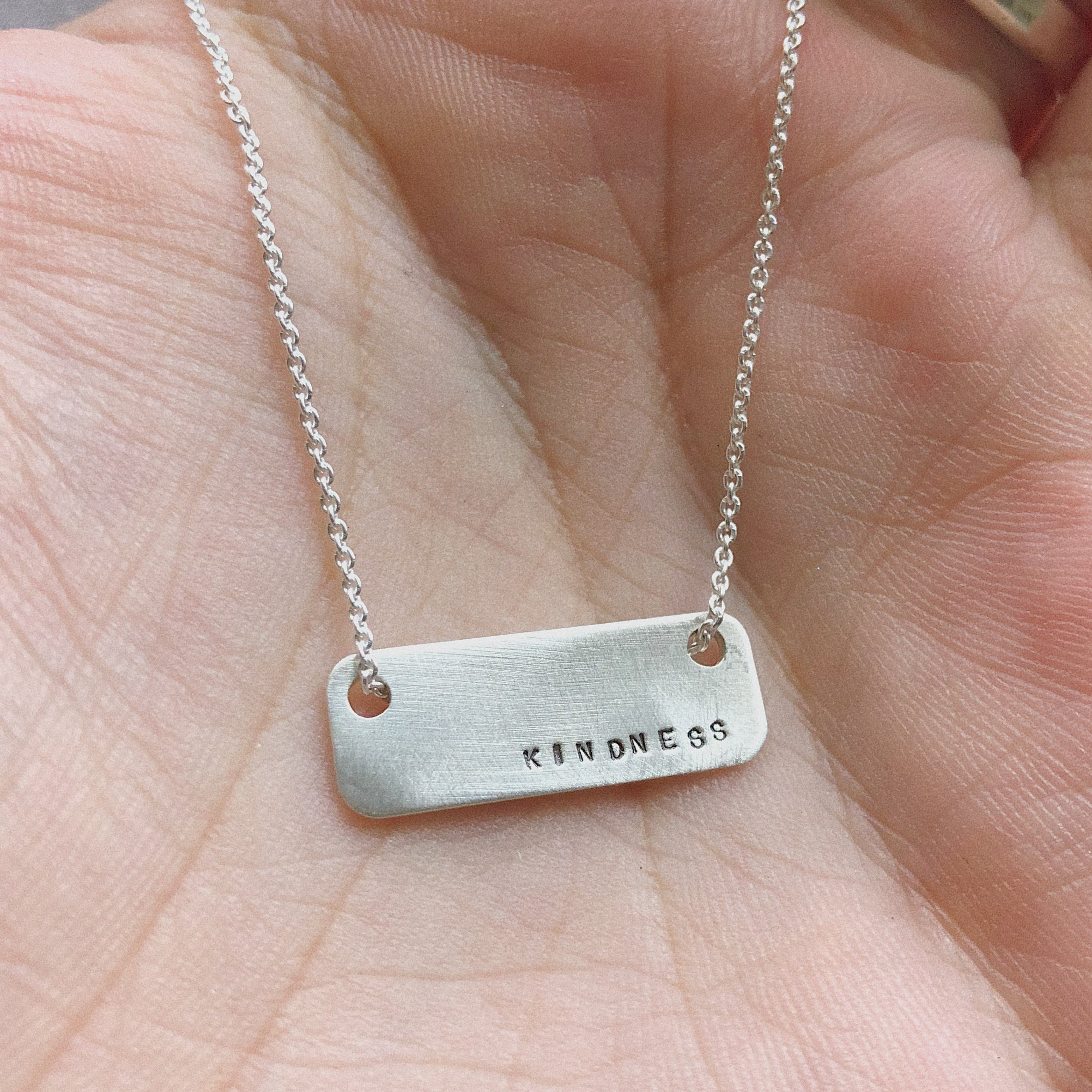 Kindness | Floating Rectangle Necklace