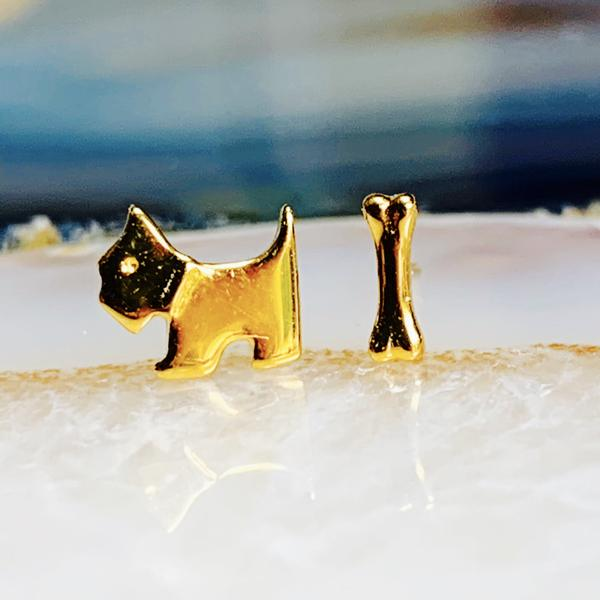 Dog And Bone Studs