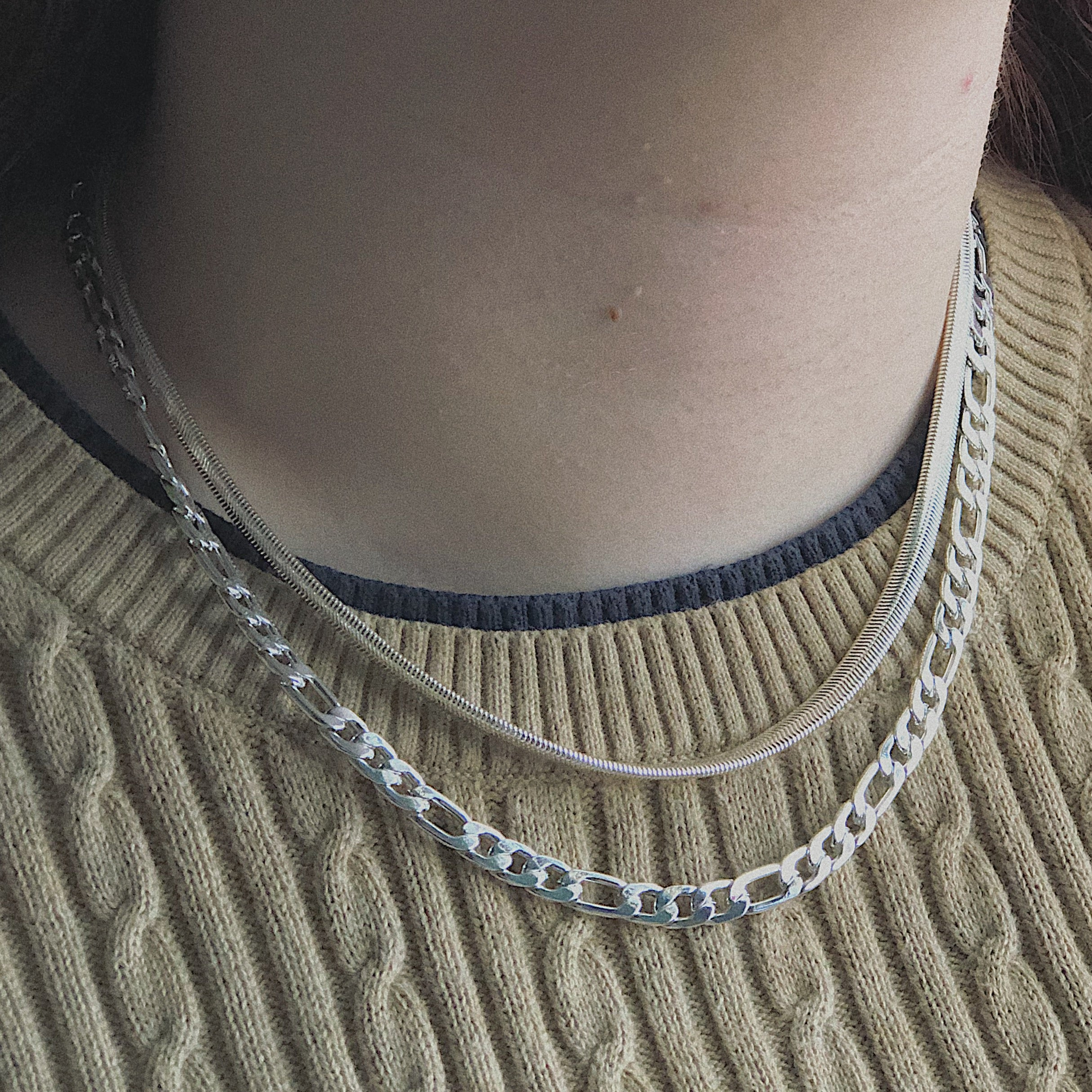 Heavy Double Layer Fashion Chains