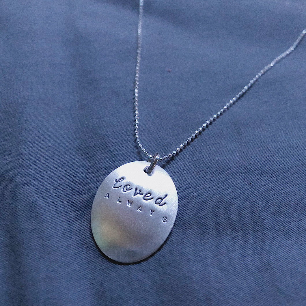 Loved Always | Inspired Oval Necklace 20