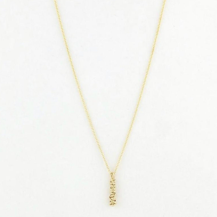Small Gold Micro Twist Necklace