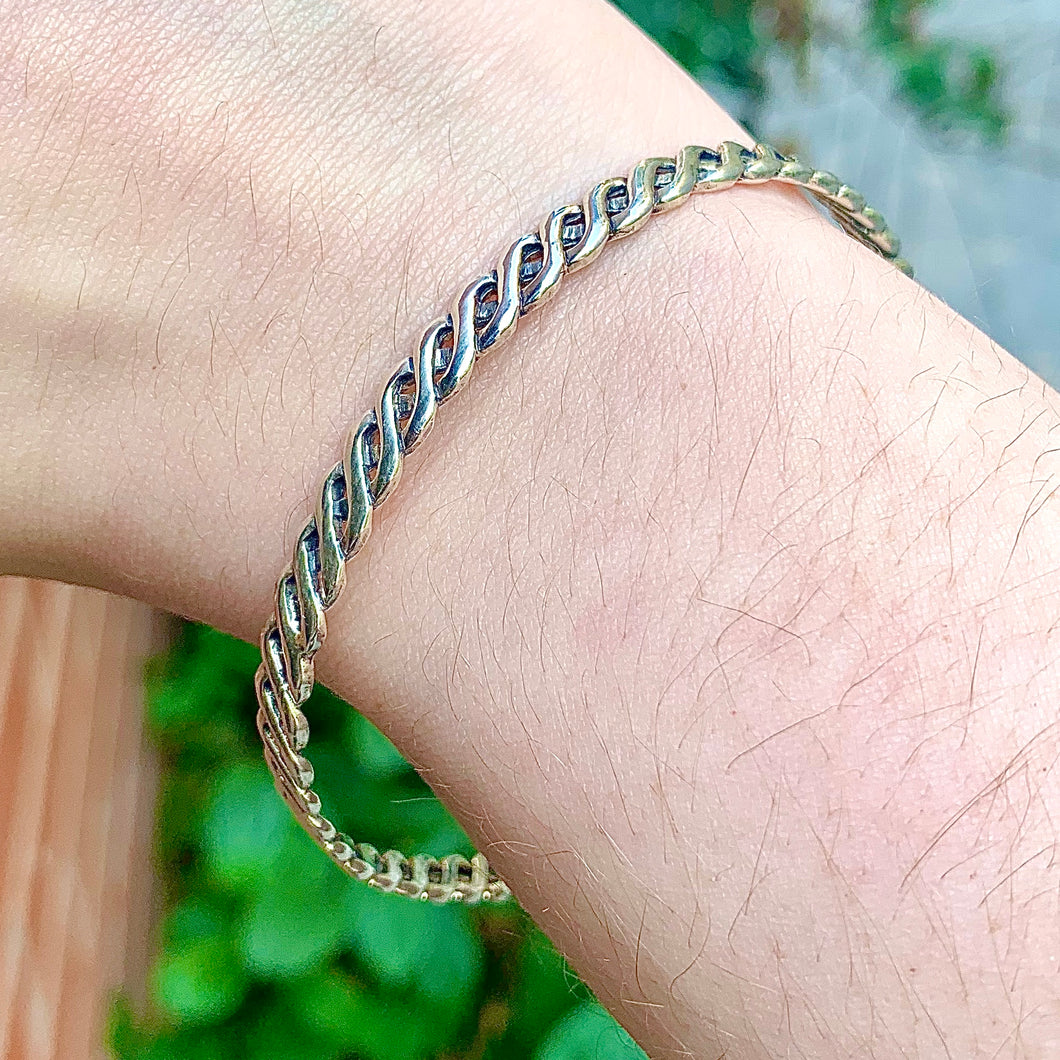 Sterling Braided Bangle