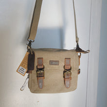 Load image into Gallery viewer, Small Canvas Shoulder Bag | Khaki