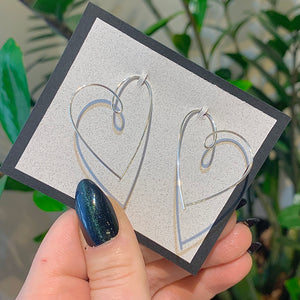 Wire Heart Earrings
