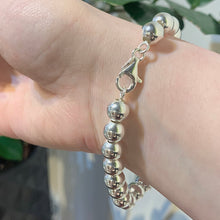 Load image into Gallery viewer, Large Silver Ball Bracelet