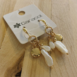 Winifred Gold Tone Natural Charm Earrings