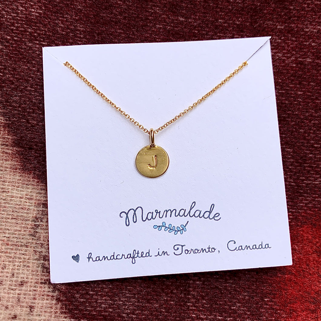 Build Your Own Necklace | Bronze Tiny Letter + Gold Fill Chain