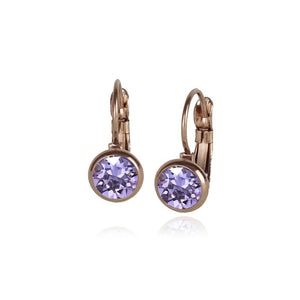 Classic Crystal Drop | Violet / Rose Gold