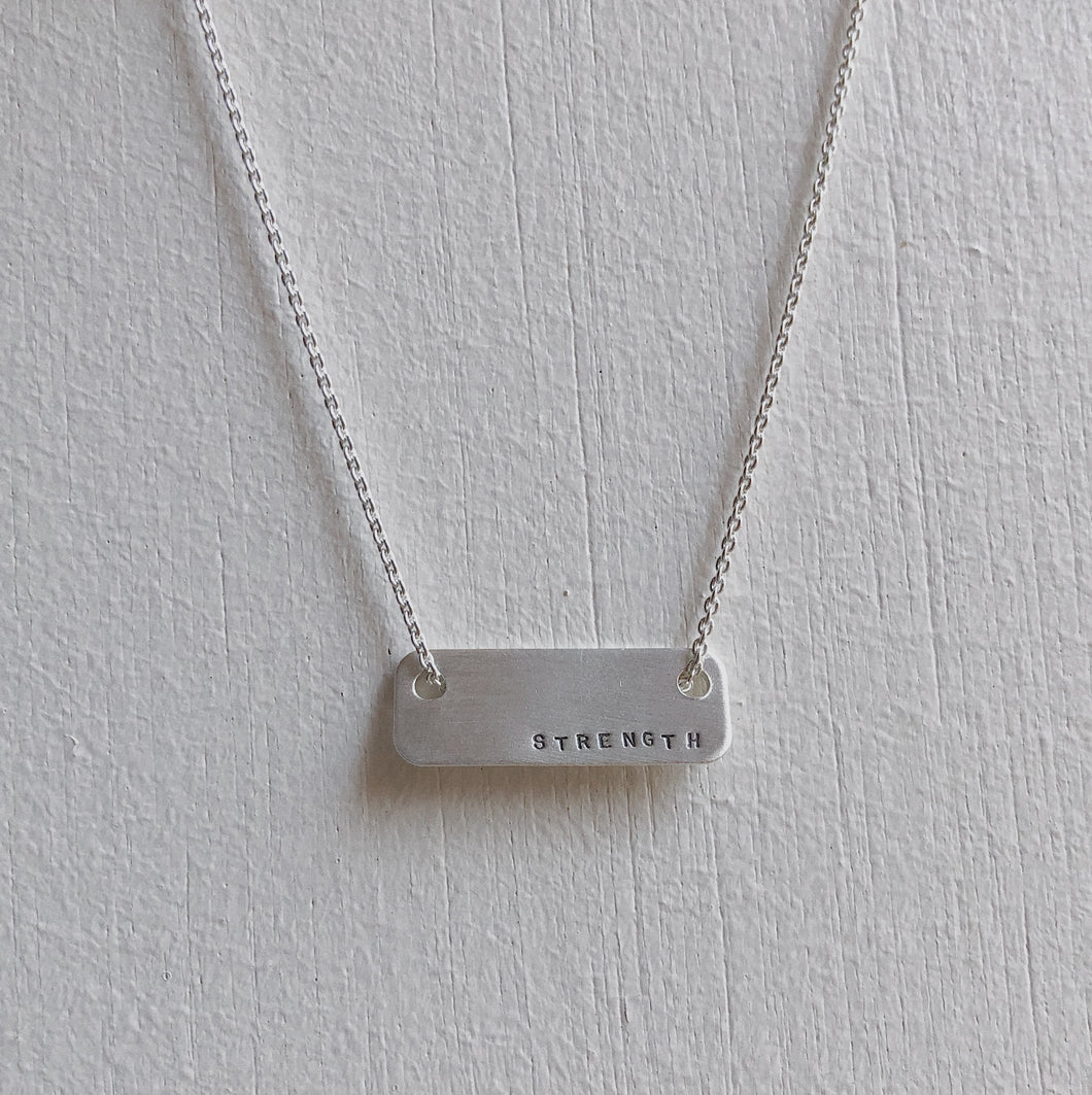 Floating Rectangle Necklace | Strength
