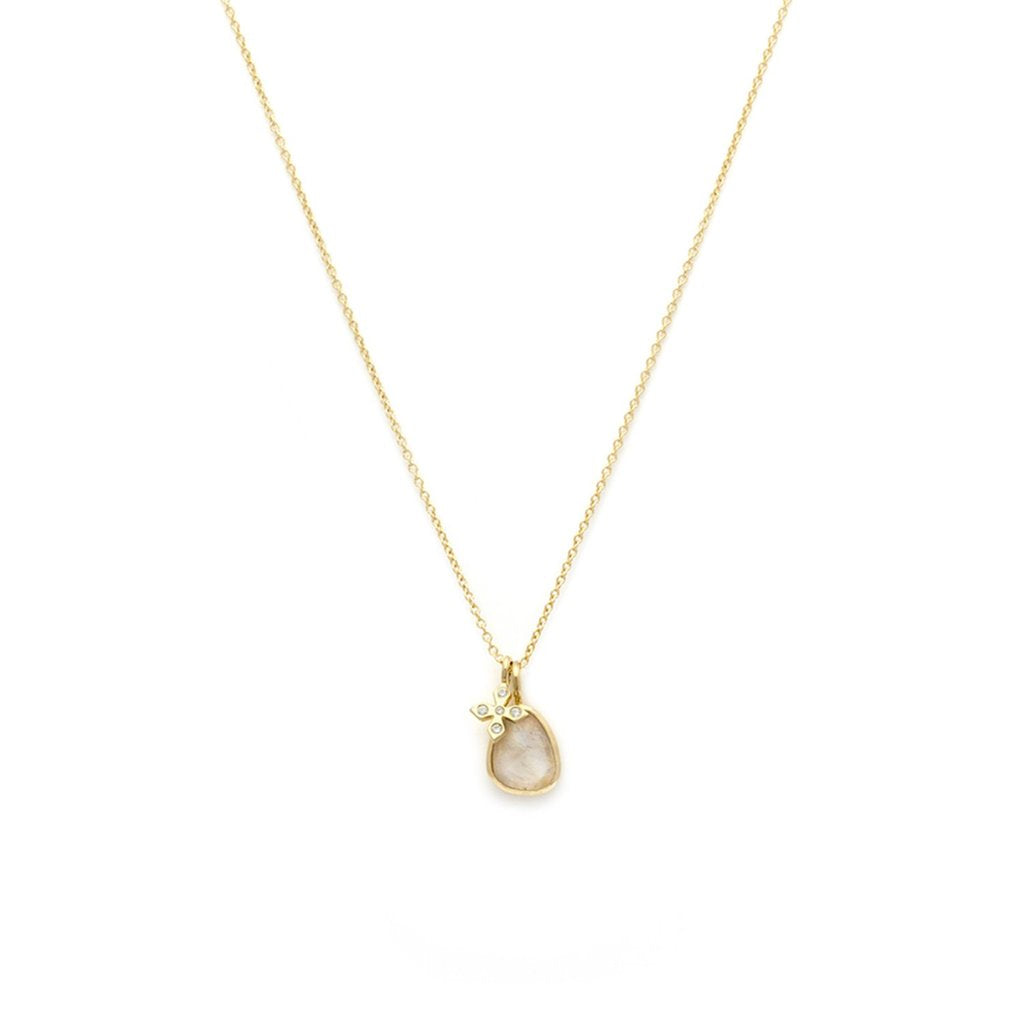 Gold Paz Necklace | Moonstone