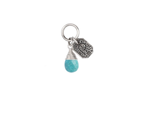 Turquoise Attraction Charm - Friendship