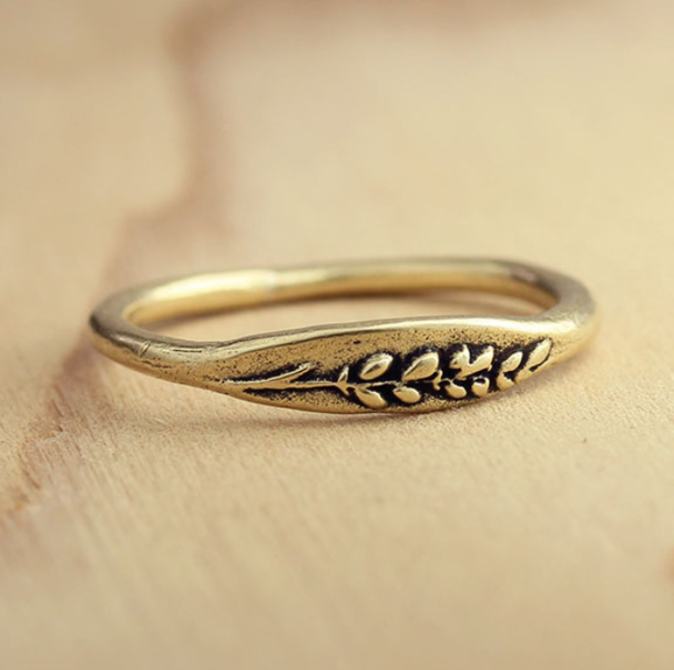 Bronze Lavender Ring