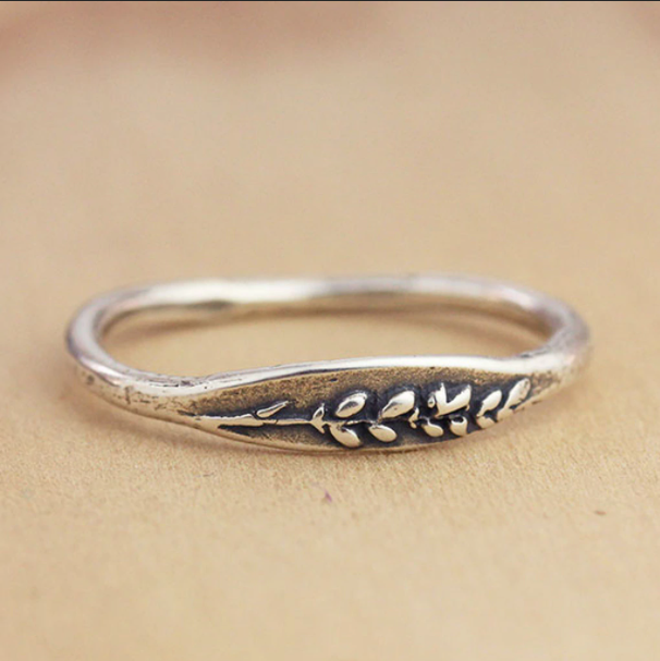 Silver Lavender Ring