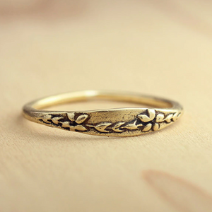 Bronze Forget-Me-Not Ring