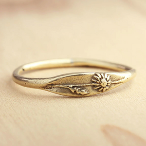Bronze Daisy Ring