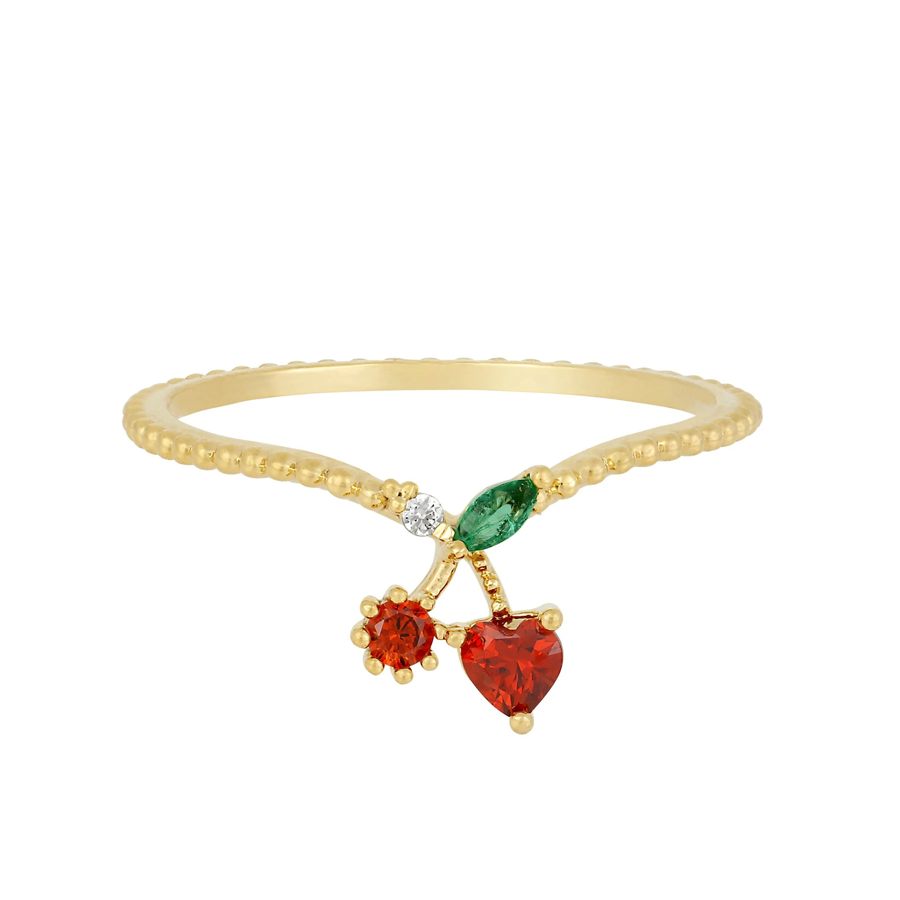 Cherry Ring | Gold