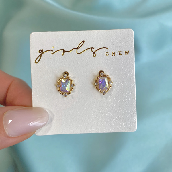 Crown Jewels Studs | Gold