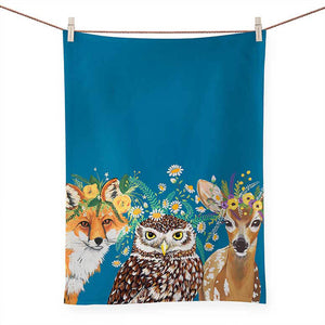 Flora & Fauna Tea Towel