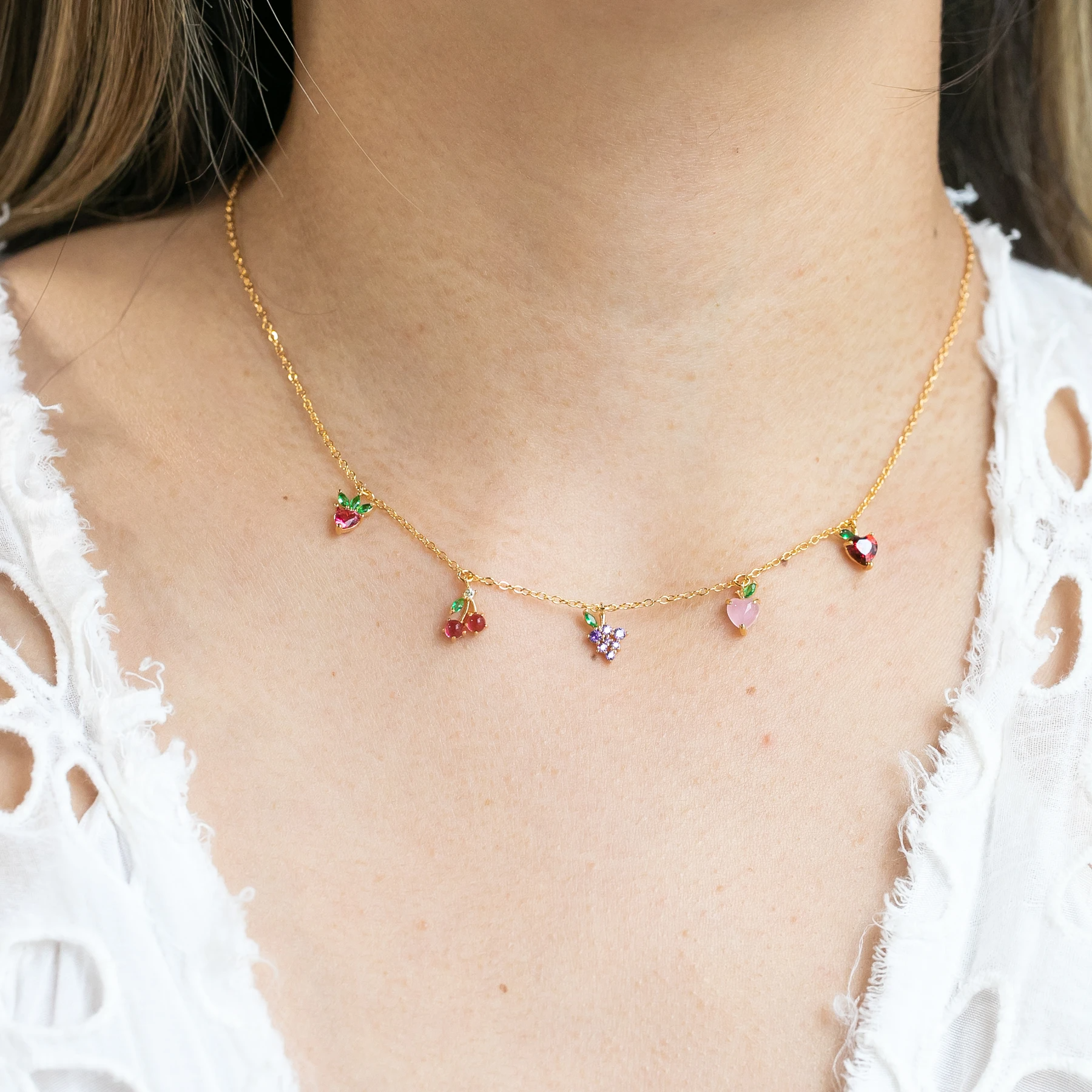 Fruit Basket Choker | Gold