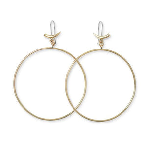 Brass Mini Tusk Drop Hoop