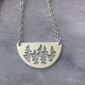 Half Moon Necklace | Pine Forest