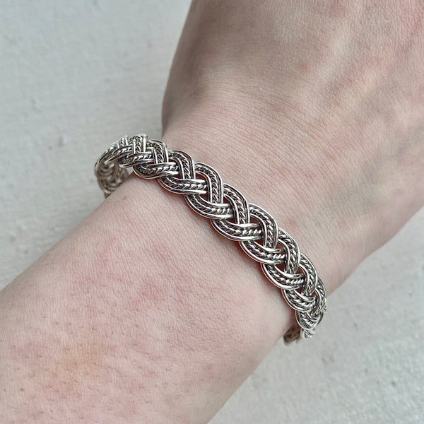 Braided Sterling Silver Cuff