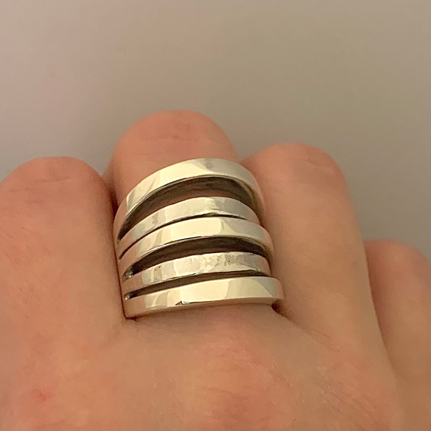 Sterling Silver Statement Ring | Size 9