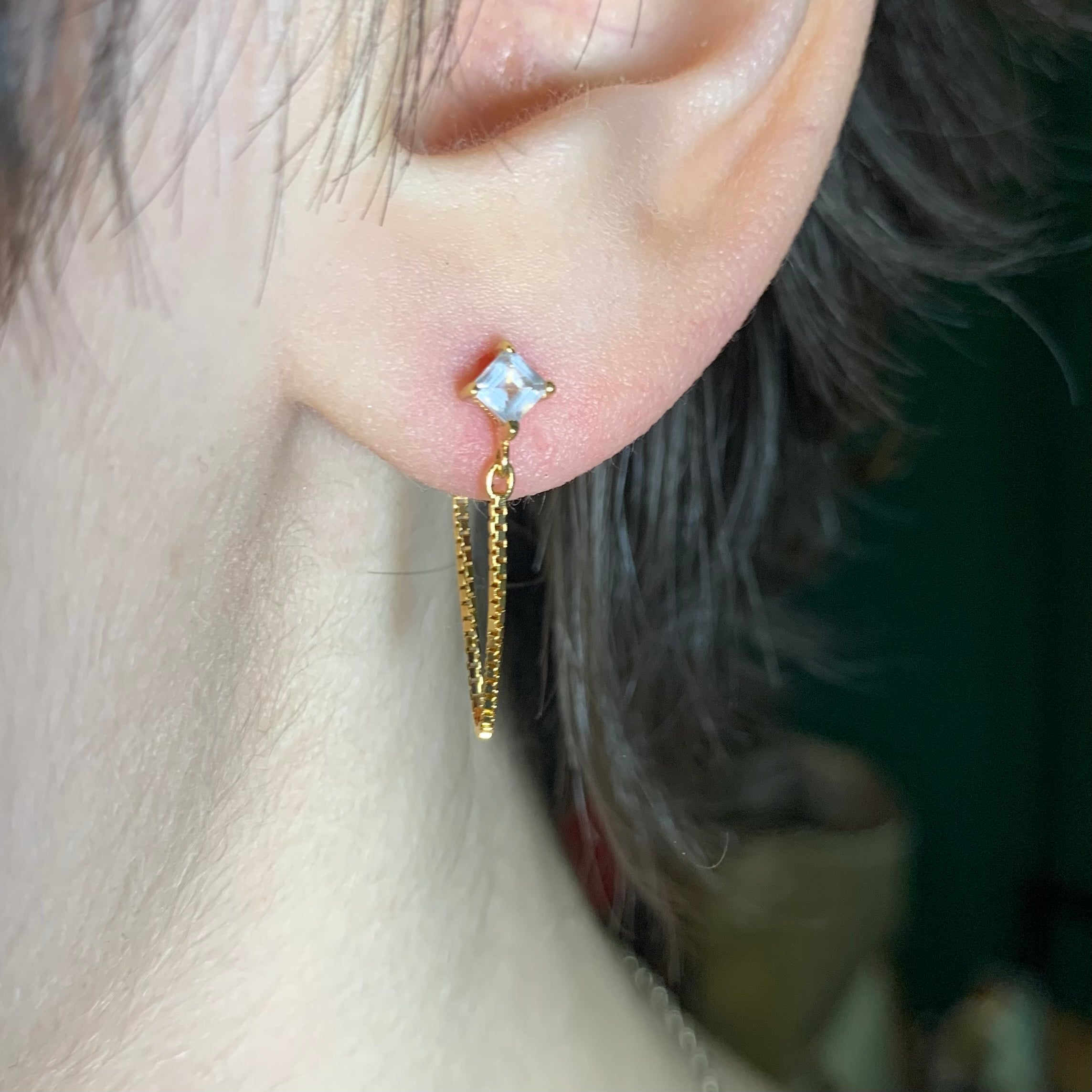 Alex Dangle Studs | Rose Quartz 0.5