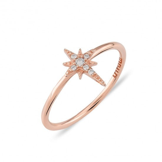 Rose Gold North Star Ring