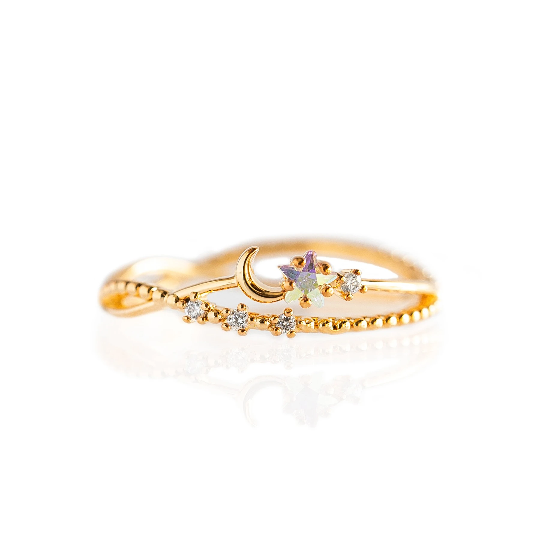 Luna Sparkle Ring | Gold
