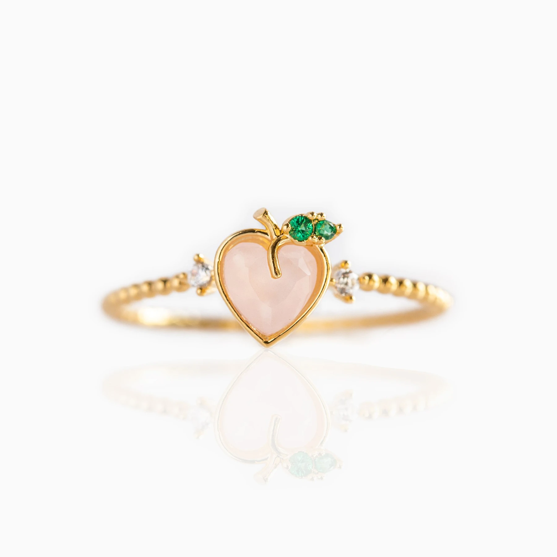 Perfect Peach Ring | Gold
