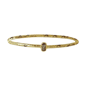 Brass Starlit Bangle | Quartz
