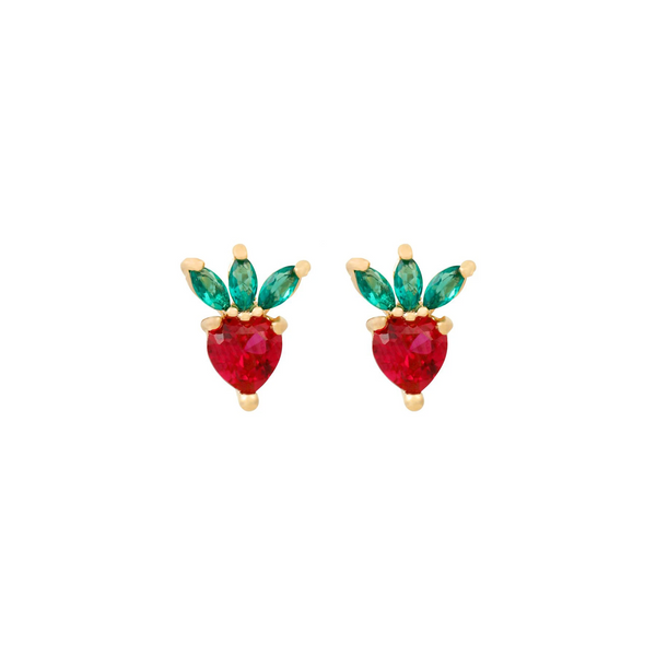 Strawberry Studs | Gold