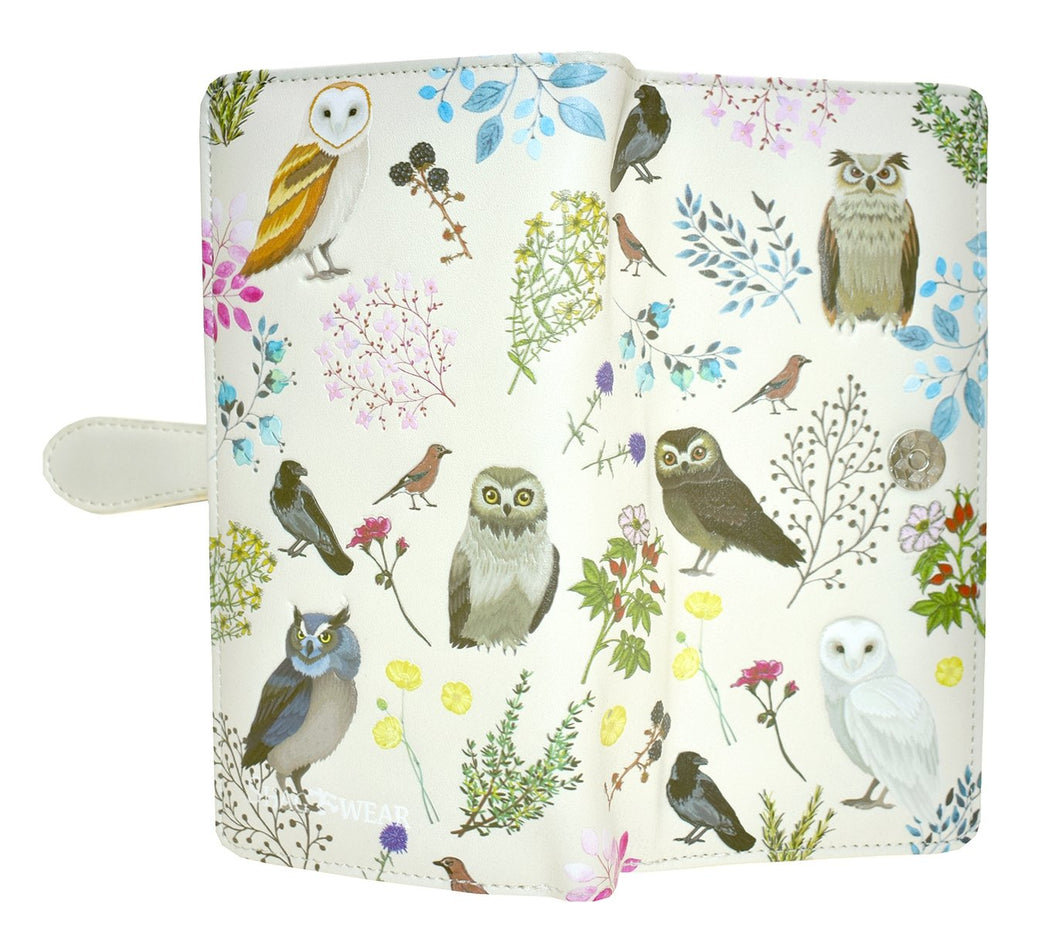 Beige Wild Bird Forest Wallet