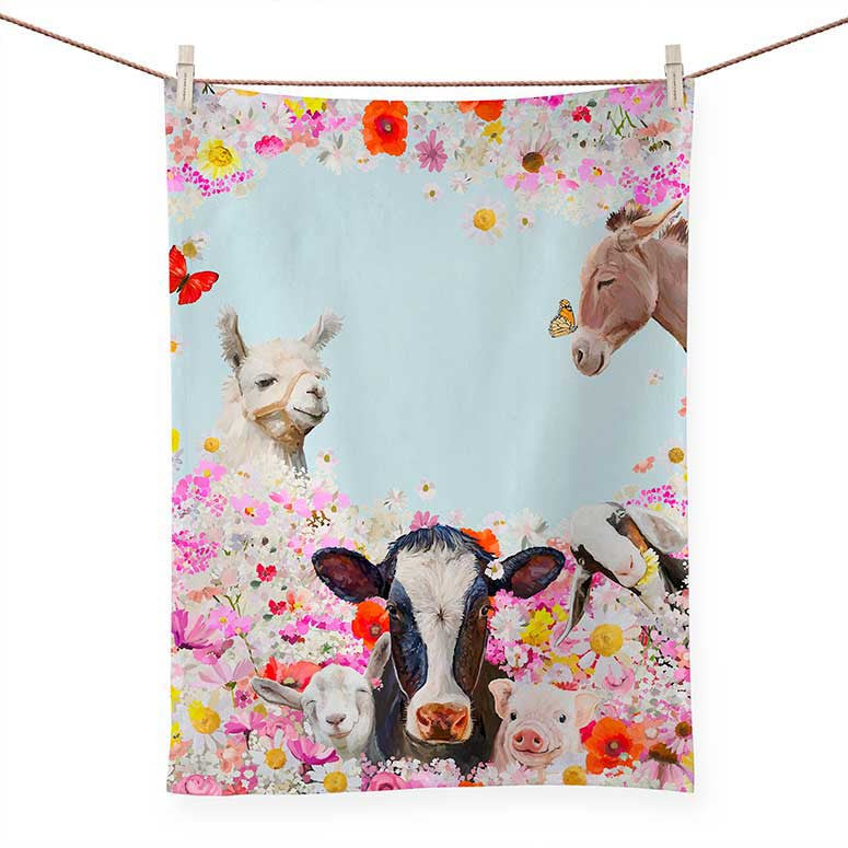 Wild Flower Farm Tea Towel