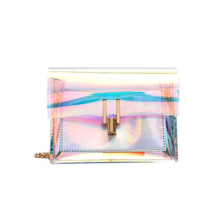 SWDF Clear Transparent Pvc Shoulder Bags In Women's Totes Handbag Messenger Bag Female Ladies Clutches Beach Bag Lady Purse Sac