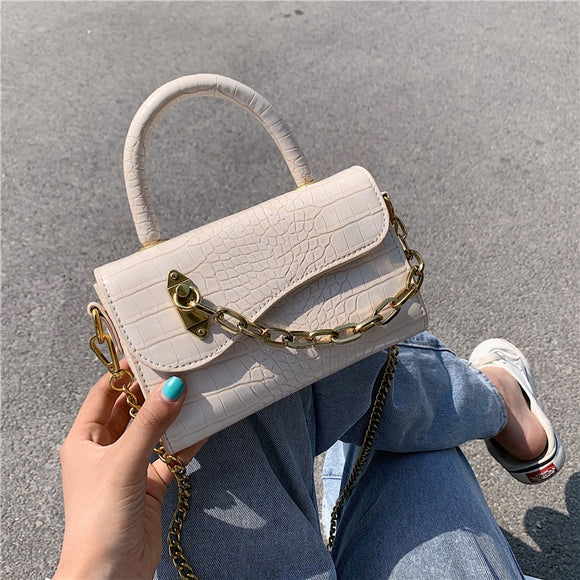 MINI Stone Pattern PU Leather Crossbody Bags For Women 2020 Luxury Shoulder Handbags Female Travel Chain Cross Body Bag
