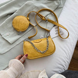 2 PCC/SET Crocodile Pattern Small PU Leather Shoulder Bags For Women 2020 Handbags Female round Bags Travel Crossbody Bag