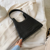 Crocodile Pattern Small PU Leather Armpit Bag For Women 2020 Summer Shoulder Handbags Lady Simple Hand Bag Beautiful