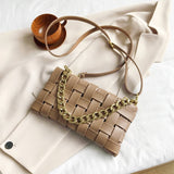 Elegant Female Weave Tote bag 2020 Fashion New High-quality PU Leather Women's Designer Handbag Travel Shoulder Messenger Bag