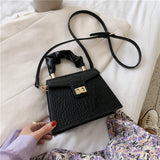 Crocodile Pattern Crossbody Bags For Women Small 2020 Summer Elegant Shoulder Handbags Female Travel Lock Cross Body Bag