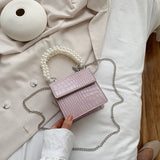 Stone Pattern PU Leather Mini Crossbody Bags For Women 2020 Summer With Sweet Pear Handle Lady Shoulder Handbags