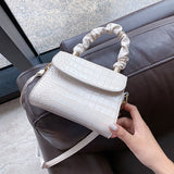Stone Pattern Simple Mini PU Leather Crossbody Bags For Women 2020 Summer Solid Color Shoulder Handbags and Purses Tote Bag