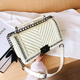 Brand Female Handbag 2020 Quilted Designer Sac PU Leather Shoulder Bags for Women Chain Lock Small Messenger Crossbody Bag Purse