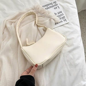 Vintage Retro Totes Bags For Women 2020 Fashion Handbag Soft Leather Female Small Subaxillary Bag Casual Retro Mini Shoulder Bag