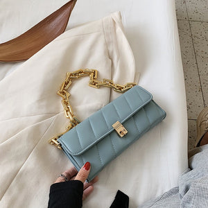 Chain PU Leather Armpit Bag For Women 2020 Fashion Shoulder Bags Lady Handbags and Purses Female Hand Bag Simple Style