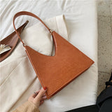 Crocodile Pattern PU Leather Shoulder Bags For Women 2020 Designer Lady Armpit Bag Female Solid Color Handbags Hand Bag