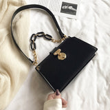 Thick Chain Design Pu Leather Shoulder Bags For Women 2020 Fashion Simple Handbags Female Handbags Lady Hand Bag