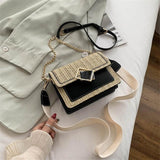 2020 new summer straw bags for women cross body hand bag small messenger shoulder bags leather travel crossbody purses lady