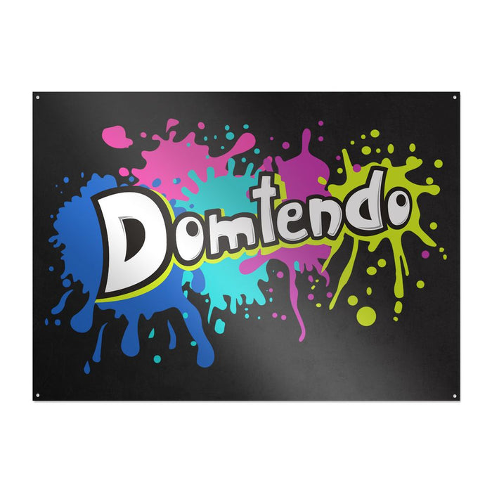 Domtendo - Splash - Metallschild